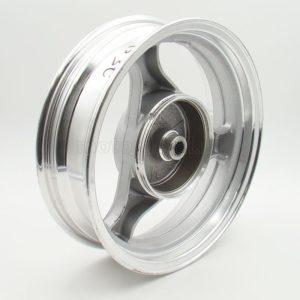 Купить Диск 13' *3.50 №1 передний литой серебр. 3 луча (диск.тормоз 3х68) (ось 12мм) с доставкой по РФ из категории товаров  со склада в Ижевске в интернет-магазине МОТОДЕТАЛЬ https://im-motodetal.ru