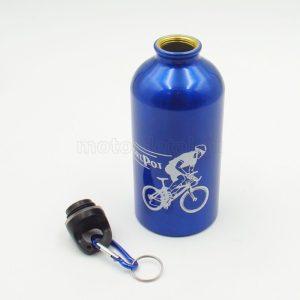 Купить Фляжка питьевая 500 мл. (АЛЮМ.) с карабином (цв. синий