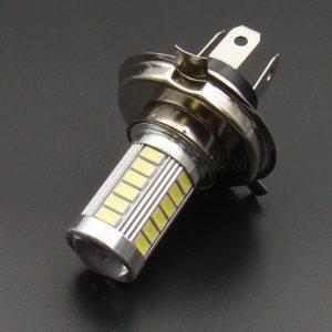 Купить Лампа LED Н4 (Р43t) 8 Вт/ 800Лм/ 5000К (33-SMD диода 5630); фары