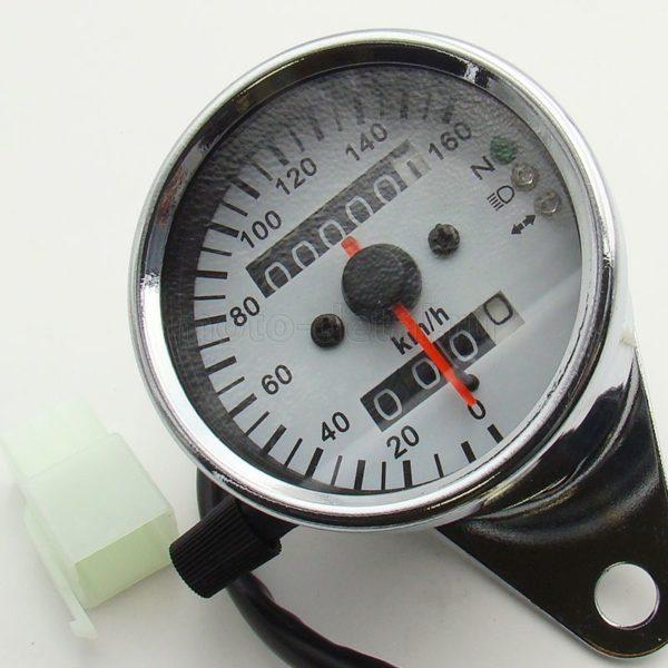 Купить Спидометр выносной (160км/ч) (хром.) с суточным пробегом (8 проводов: индикация