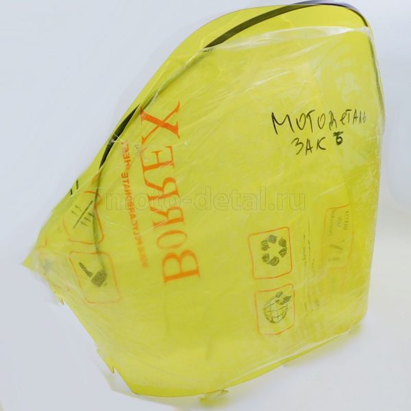 Купить Стекло Тайга 500 АНТИБЛИК желтое ФОРМОВАННОЕ (2мм) с доставкой по РФ из категории товаров  со склада в Ижевске в интернет-магазине МОТОДЕТАЛЬ https://im-motodetal.ru