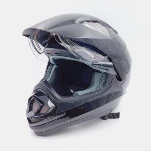 Шлем S2-XP-14A Кроссовый (стекло с подогревом+запасное стекло) Черный